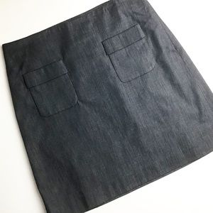 LOFT   NWT Gray Cotton Spandex Fully Lined Skirt 4